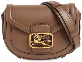 Etro Pegaso Md Leather Shoulder Bag