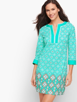 Talbots Cabana Life Embroidered Cover Up - Aqua Medallion
