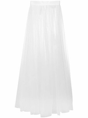 Loulou Sheer Tulle Maxi Skirt