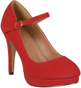 Journee Collection Red Shelby Mary Jane Pump