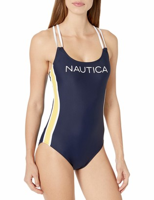 Nautica Women's Heritage Cross Back One Piece
