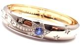 Chanel 18K White & Yellow Gold Comet Diamond Sapphire Bangle Bracelet