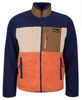 Penfield Mattawa Colour Block Fleece Colour: ORANGE AND NAVY, Size: ME