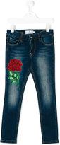 Philipp Plein rose patch skinny jeans