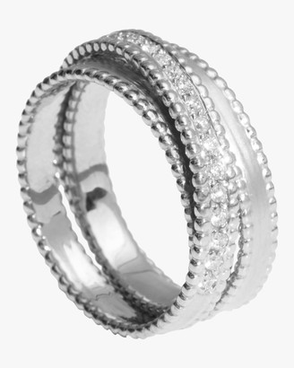 Sophie Ratner Half Embedded Diamond Spiral Ring