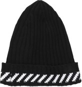 Off-White Off White Diagonals Wool Blend Knit Beanie