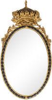 One Kings Lane Vintage Italian Regal Crown Giltwood Mirror