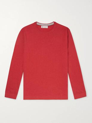 Brunello Cucinelli Contrast-Tipped Cashmere Sweater