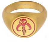 Star Wars Mandalorian Symbol Gold-Tone Stainless Steel Ring Size 14
