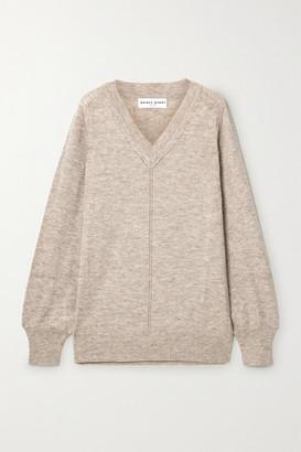 Apiece Apart Gabriel Oversized Melange Alpaca-blend Sweater - Beige