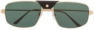 Cartier Santos de rectangular-frame sunglasses
