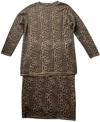 Fendi Camel Wool Dresses