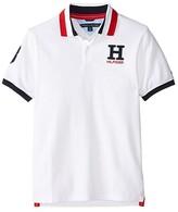 Tommy Hilfiger Short Sleeve Matt Polo (Big Kids) (White) Boy's Short Sleeve Pullover