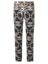 Versus Versace Baroque-print Skinny Jeans