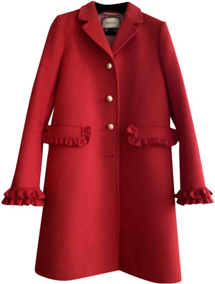 Gucci Red Wool Coats