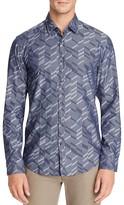 BOSS GREEN Bambra Geo Print Regular Fit Button-Down Shirt
