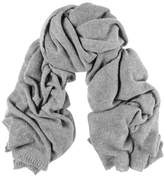Black Oversized Grey Cashmere Knit Scarf
