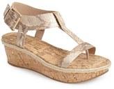 Pelle Moda 'Kann' Platform Wedge T-Strap Sandal