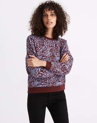 Madewell (Re)sourced Cotton Oversized Sweatshirt in Tigerized Print