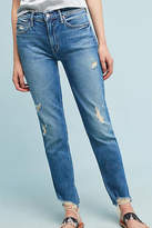 Mother The Flirt Fray High-Rise Skinny Ankle Jeans