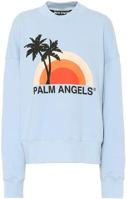 Palm Angels Rainbow cotton-jersey sweatshirt