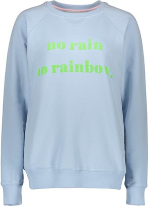 Sweatshirt No Rain No Rainbow - Blue