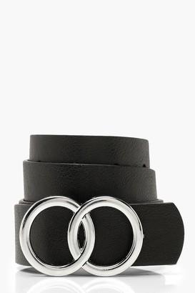 boohoo Double Buckle Boyfriend Belt
