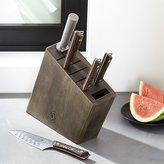 Crate & Barrel Shun ® Kanso 6-Piece Knife Block Set