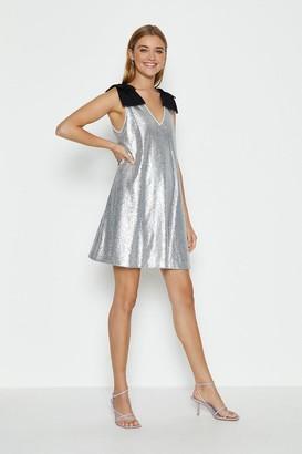 Coast Bow Shoulder Sequin Cami Dress