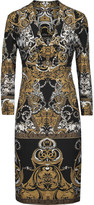 Roberto Cavalli Metallic printed stretch-jersey dress