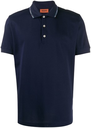 Missoni Logo Collar Polo Shirt