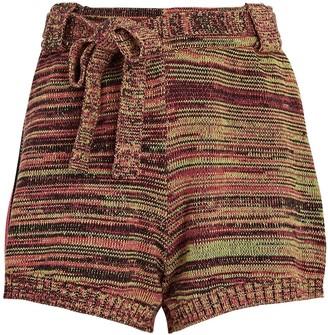The Upside Nitara Space-Dyed Knit Shorts