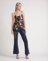 Cynthia Rowley Embroidered Tulle Lace Camisole