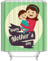 Crystal Emotion Mothers Day Gifts Warmly family,I love you mom,happy every day Fabric Bathroom Shower Curtain