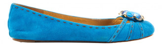 Marc Jacobs Turquoise Suede Ballet flats