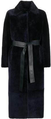 Liska Reversible Belted Shearling Coat