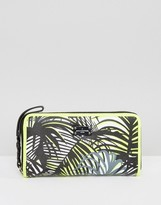 Pauls Boutique Palm Print Zip Around Wallet