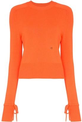 Victoria Beckham tie sleeve long-sleeved jumper