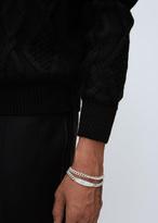Maison Margiela silver double id bracelet
