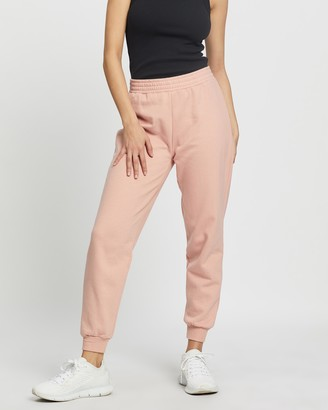 Topshop Women's Pink Sweatpants - Shirred Waist Joggers - Size XS at The Iconic