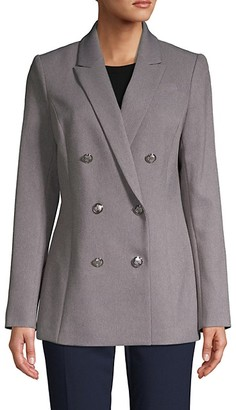 Calvin Klein Double-Breasted Long-Sleeve Jacket