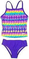 Speedo Girls Sporty Splice Tankini 2 Piece Swimsuit