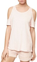 Sanctuary Cold Shoulder Heathered Tee