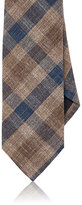 Drakes Drake's Men's Checked Necktie-BROWN