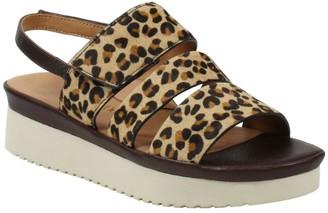 L'Amour des Pieds Leather Flatform Sandals - Amelcia