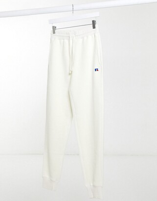 Russell Athletic fleece joggers in cream