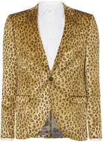 Noose and Monkey Men's Dante Leopard Print Jacket