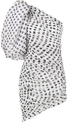 Giuseppe di Morabito One Shoulder Polka Dot Silk Dress