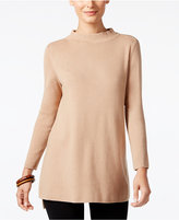 Alfani Mock-Neck High-Low Sweater, Created for Macy's