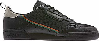 adidas Men's Continental 80 Hiking Shoe core Black/Orange/Sesame 6 M US